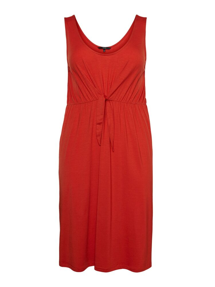 Boll sl below knee dress VERO MODA CURVE aurora red